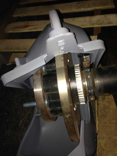 rotor clam-shell